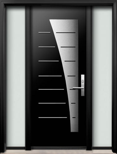 Ar 15 Modern Entry Door North View Canada