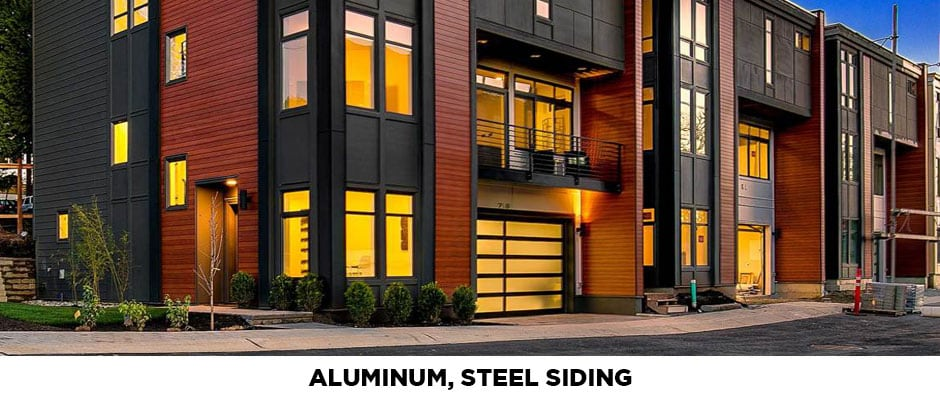 aluminum and steel siding