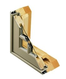 Wood Window With Aluminum Clad Consists Of A Wooden Sash And Frame Covered On The Outside Strong Durable Extruded Material